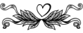 TQF heart flourish